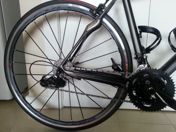 Fulcrum Zero race wheels and Quark Riken power meter.