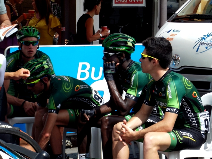 Team Europcar looking pensive ...