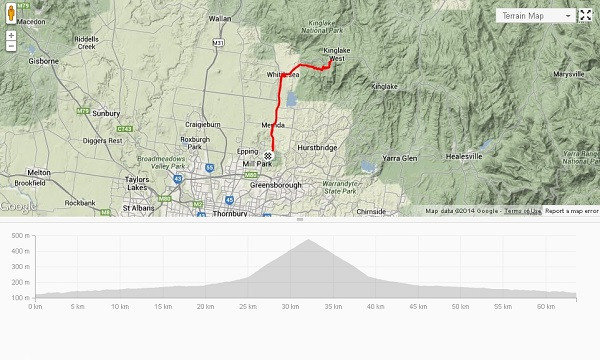 First proper ride, 19 days after fracture: 63 km / 430 m.