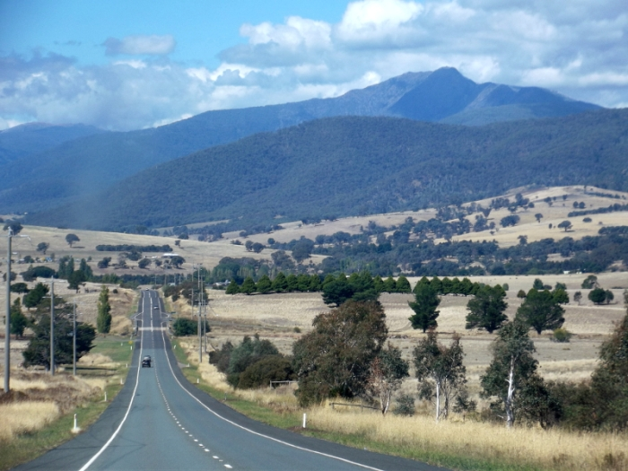 The road out to Mt Buller, Photo taken the day before the race.
