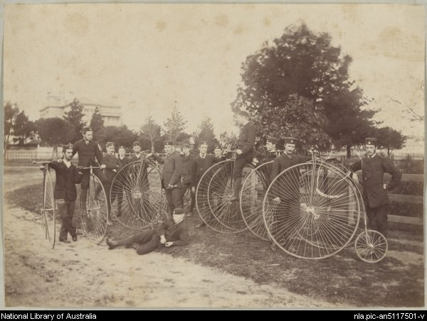 The Melbourne Bicycle Club circa 1878.