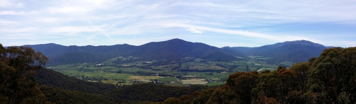 The view from Tawonga Gap, a month before the race. (click to enlarge)