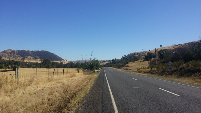 Flowerdale - During a 200km ride to complete the Festive 500.