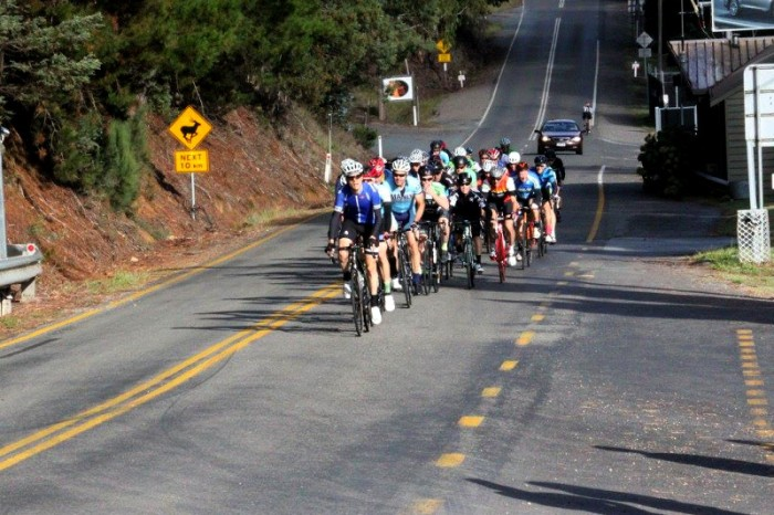 Photo: David Randall Photography. On the front, start of the climb.